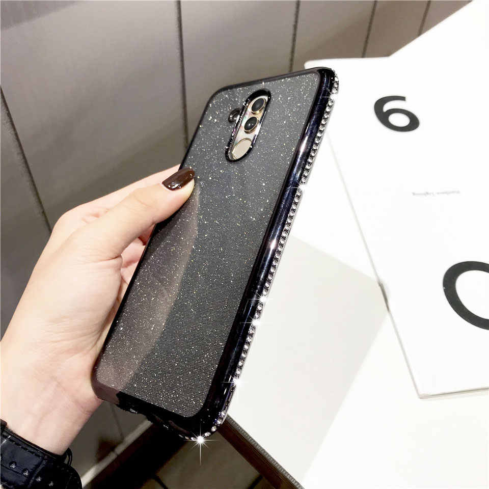 Diamond Glitter Case for Huawei Mate 20 Pro 10 Lite P20 P30 Nova 3 Honor 8X Bumper iPhone XR 6S 7 8 Plus X XS MAX Cover Silicone