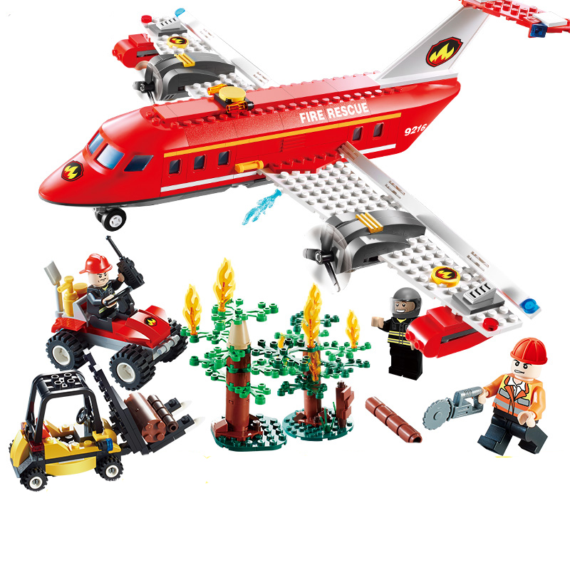 Free Shipping 522PCS Fire airplane Series Building Blocks Truck Compatible Education Enlighten DIY Toys Gift for Children 9213 jie star fire ladder truck 3 kinds deformations city fire series building block toys for children diy assembled block toy 22024