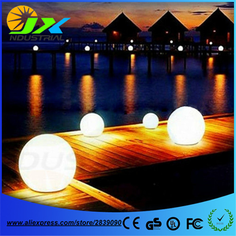 20/30/40cm led RGB path ball light / led outdoor floor lamp waterproof IP65 rechargeable PE material round balls light