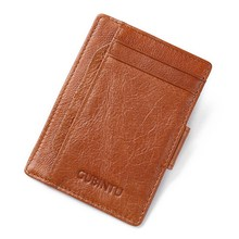 Men Wallets Genuine Cow Leather Wallets Vintage Design Card