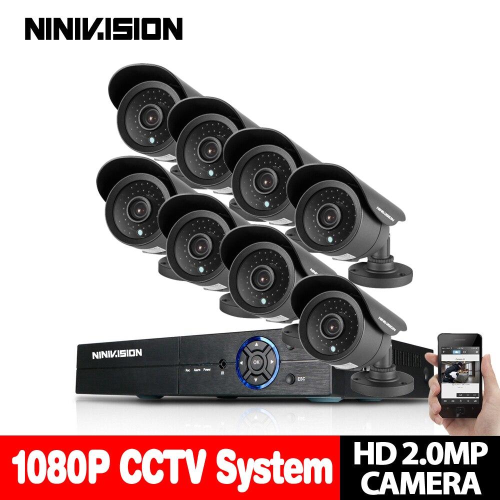 Casa 8CH Sistema DVR CCTV AHD DVR 1080 p 2.0 Megapixels Reforçada 3000TVL IR Câmera de Segurança CCTV Sistema de Câmera De Segurança NO HDD