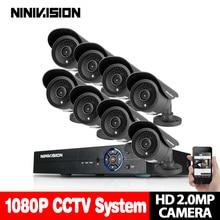 Дома 8CH CCTV DVR Системы AHD DVR 1080 P 2,0 мегапикселя Enhanced ИК безопасности Камера 3000TVL CCTV Камера безопасности Системы NO HDD