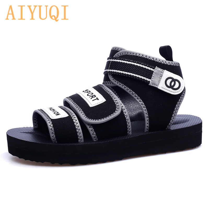 AIYUQI Women sandals flat casual 2019 new women sneakers shoes summer beach girls slippers