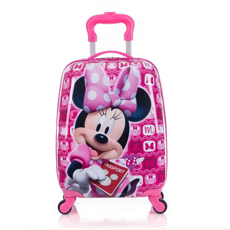 100% Wahr Kinder Koffer Kind Trolley Gepäck Kinder Schulranzen Reise Koffer Mit Rädern 3d Cartoon Reise Fall Kinder Spielzeug Box