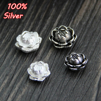 Authentic 925 Sterling Silver Color Charm Beads New Lotus Flower Bead Fit Bracelet Necklace Jewelry Gift For Woman