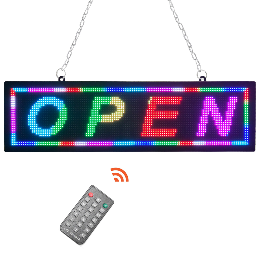 Remote Controlled LED Open Sign 21x6 with 9 kinds of display can be switched display effect