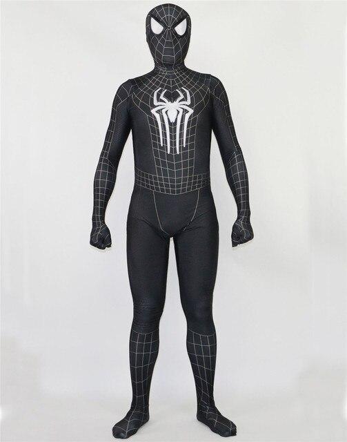 Spiderman Costume Spider Red blue Black Man Suit Spider-man Costumes Adults Children Kids Spider-Man Cosplay Clothing Zentai
