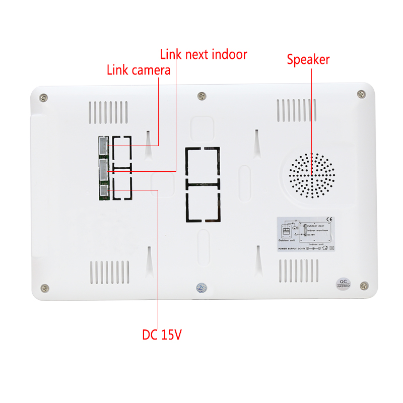 JERUAN New 7 Video Intercom Apartment Door Phone System 4 White Monitor 1 HD Camera for 4 Household In Stock Wholesale
