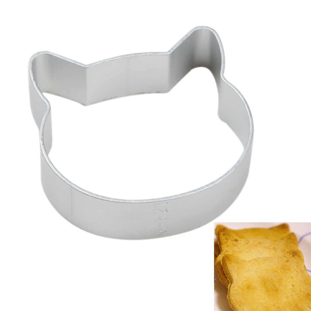 Cat Shapes Biscuit Cookie Bread Cake Steel Cutter Baking Mold Diy Cookies Tools