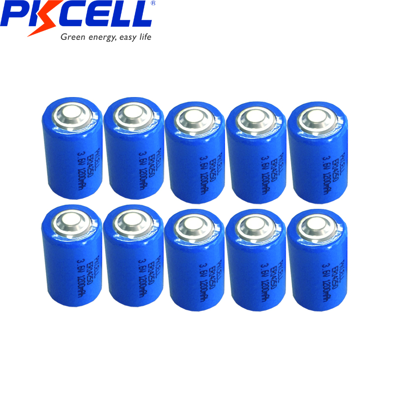 10PCS x PKCELL ER14250 <font><b>AA</b></font> <font><b>battery</b></font> primary <font><b>battery</b></font> <font><b>lithium</b></font> B14250 <font><b>3.6v</b></font> 1200mah <font><b>1</b></font>/<font><b>2</b></font> <font><b>AA</b></font> Li-SOCl2 <font><b>Lithium</b></font> Non-rechargeable <font><b>Battery</b></font> image