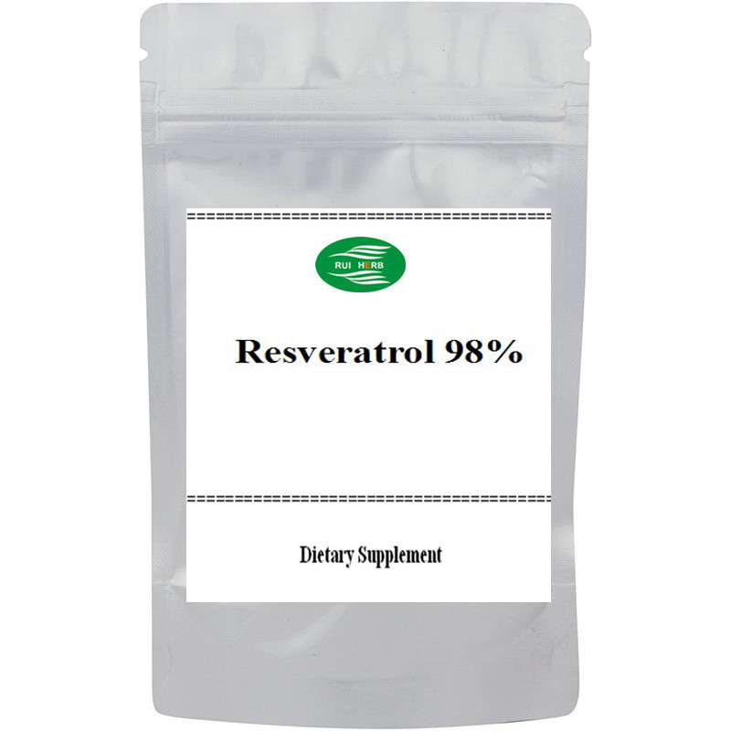 цена на 100gram Highest Pure Resveratrol/ Trans Resveratrol 98% Powder powerful antioxidant free shipping