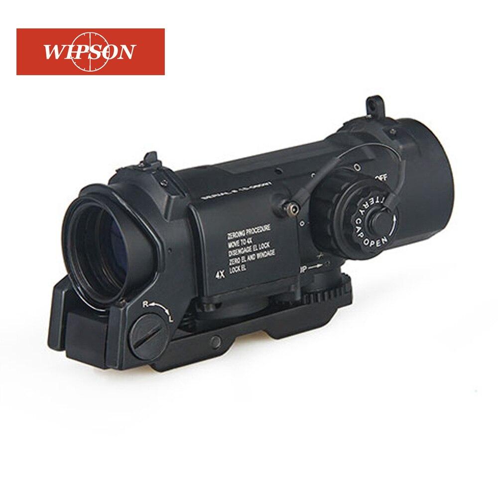 WIPSON tactique livraison gratuite 1x-4x double rôle optique vue tactique fusil Airsoft portée magnifique portée pour la chasse
