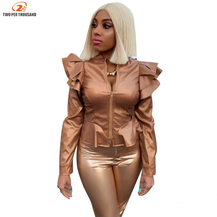 2019 Spring Coat Hot Jacket Women Winter Autumn Fashion Motorcycle Jacket Faux   Leather   Coats Lady Outerwear Drop Shipping