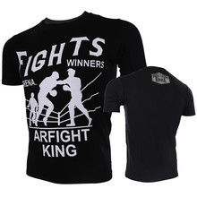 VSZAP Fights Winners Arena Fight King Printed T-shirt Men MMA Fighting Muay Thai Fitness UFC Sanda Tee Shirt Brand Clothing