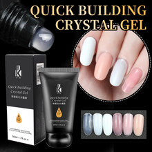 CoKEKOU 45g Quick extend soak off UV&led builder nail gel fake tips dual ended pen acrylic art Reinforced crystal poly
