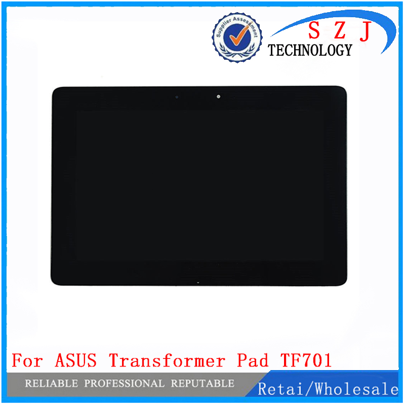 NEW 10.1'' inch Parts for ASUS TF701 TF701t LCD Display + Touch Screen Digitizer Panel Full Assembly with LOGO Free shipping new original 10 1 for nokia lumia 2520 lcd display with touch screen digitizer sensor full assembly black replacement parts