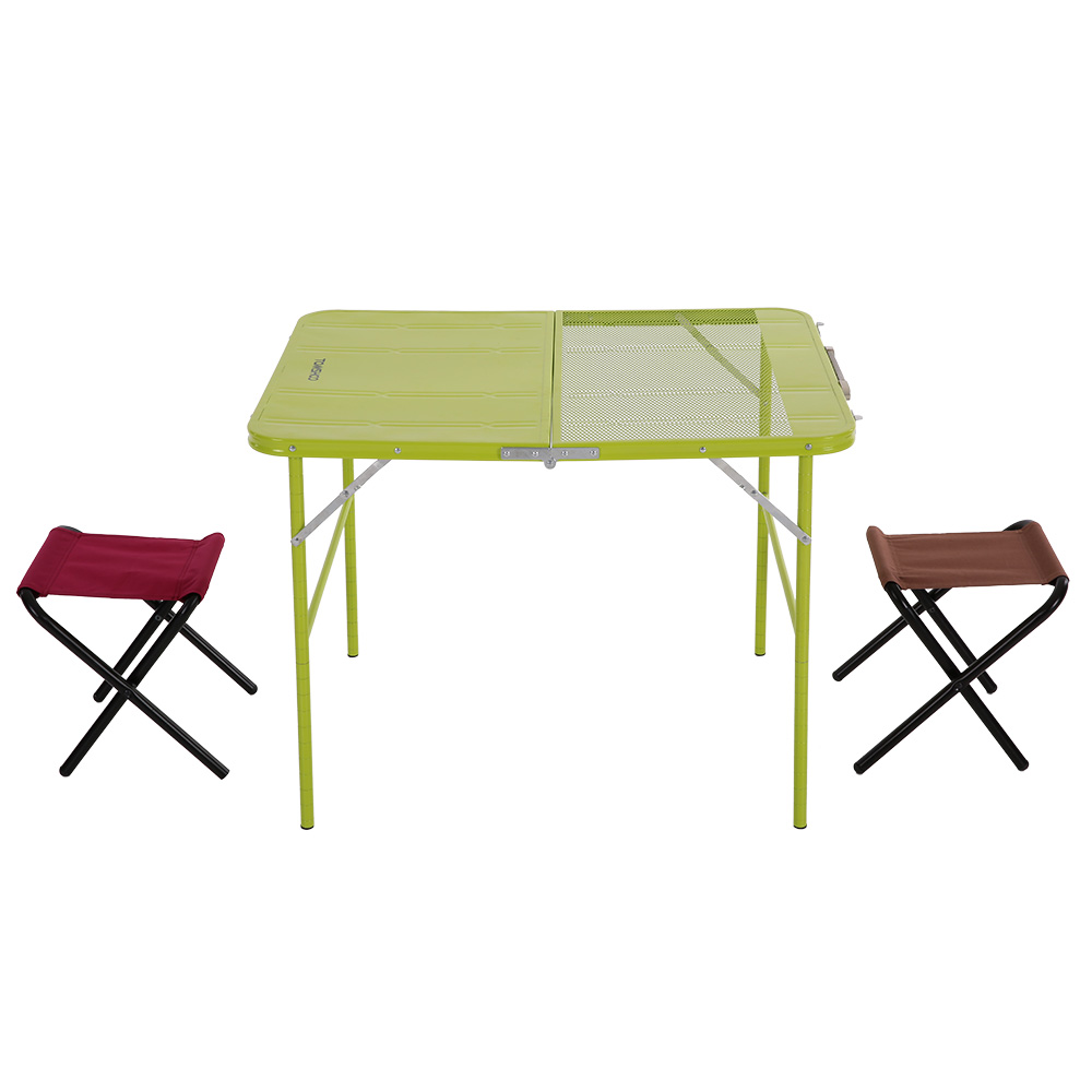 tomshoo outdoor adjustable folding table desk chair set portable picnic camping fishing hiking garden trip utility