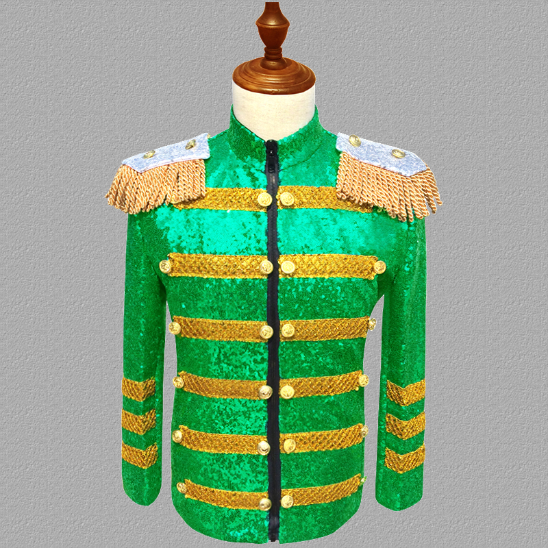 <font><b>Green</b></font> <font><b>sequins</b></font> blazer <font><b>men</b></font> suits designs <font><b>jacket</b></font> <font><b>mens</b></font> stage costumes for singers clothes dance star style dress punk rock masculino image