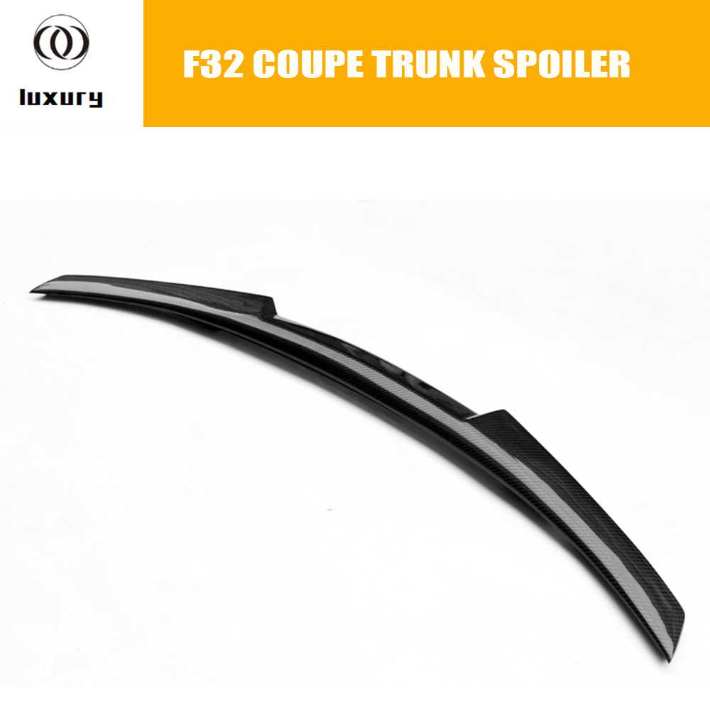 M4 Style F32 Coupe Carbon Fiber Rear Wing Spoiler for BMW F32 420i 428i 435i 2 Door 2014 2015 2016 Tail Trunk Lid Boot Lip Wing for bmw 4 series f32 coupe 420i 428i 430i 435i carbon fiber rear spoiler performance style 2014 2015 2016 2017