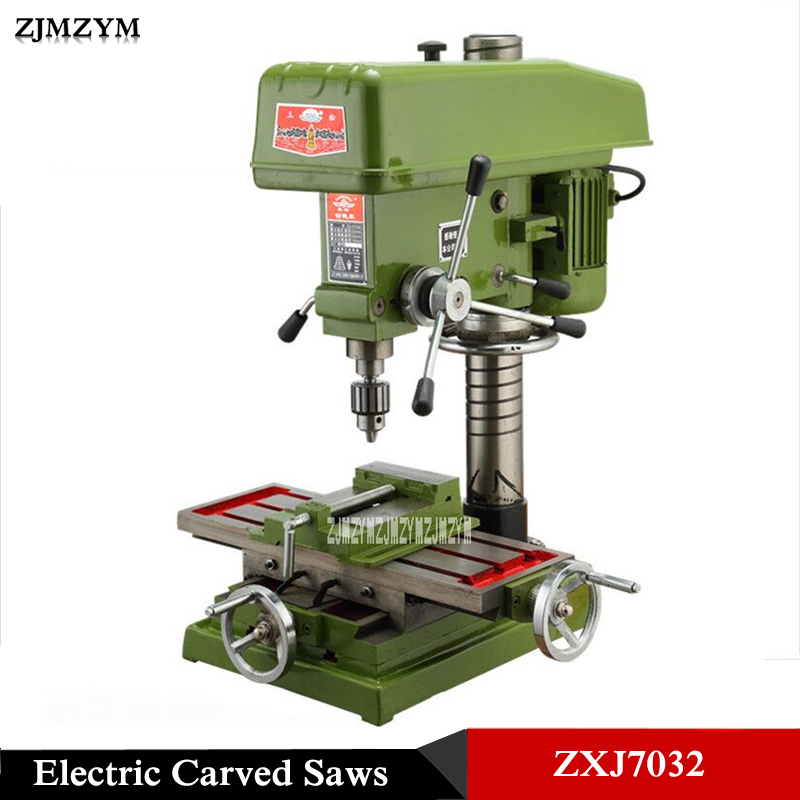 ZXJ7032 Multi-function Large Electric Carved Saws Bench Drilling And Milling Machine Drilling Table 220V/380V 1.1KW