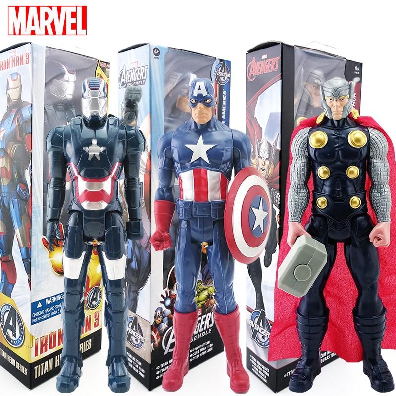 30cm Marvel Avengers Toys Boxed Spiderman Captain America Thor Venom Iron Patriot Wolverine Action Figure Toy Dolls Boys Gift