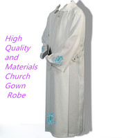Catholic church Robe clothing BLESSUME White Color Alb Pleats Catholic Church ALTAR SERVER Vestments Robe