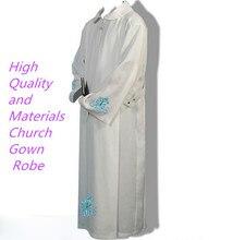 Catholic church Robe clothing BLESSUME White Color Alb Pleats Catholic Church ALTAR SERVER Vestments Robe
