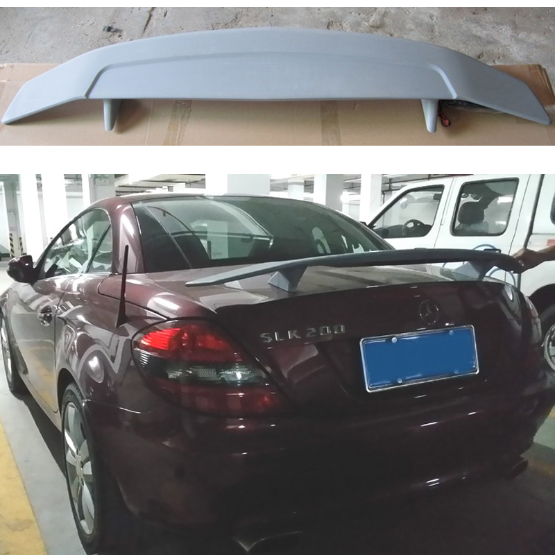 <font><b>Mercedes</b></font> R171 R172 ABS Plastic Unpainted Rear Spoiler Wing for <font><b>Benz</b></font> <font><b>SLK</b></font> Class 2006- 2013 <font><b>SLK200</b></font> SLK280 SLK300 SLK350 image