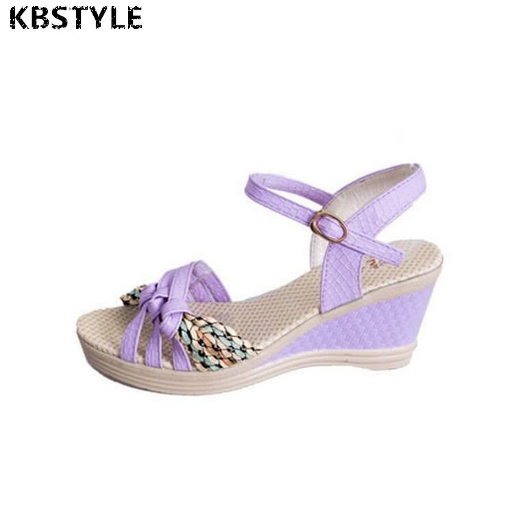 2017 Summer Style Women Wedges Sandals 2017 Sweet Casual Ladies Platform Gladiator Sandals Open Toe Flats Dress Shoes Woman summer wedges shoes woman gladiator sandals ladies open toe pu leather breathable shoe women casual shoes platform wedge sandals