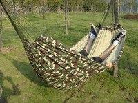 200 150cm Outdoor Portable 2 People Camping Hammock Garden Swing Set Parachute Indoor Camouflage Thicken Canvas