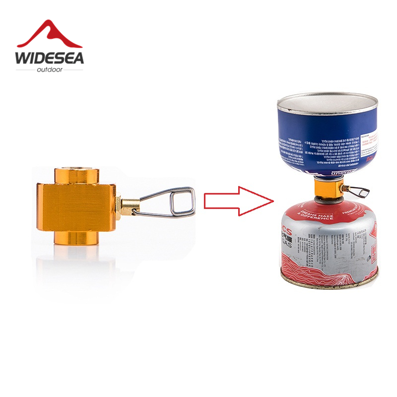 Widesea Camping Stove Propane Refill Adapter Gas Burner Gas Filling Butane Cylinder Tank LPG Saver Camping Equipment