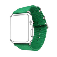 New Fabric Watch Strap Watchband For Applewatch Series 1/2 38MM/42MM Men/Women 2017 Fresh Green Design Watch Band APB2548