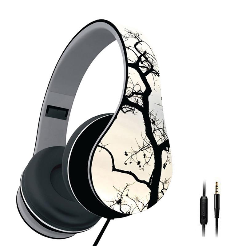 Casque Audio Foldable Headfone Headband Retro Headphones Headset With Mic Stereo Wired for PC Computer Xiaomi Phone Big Earmuff earfun brand big headphones with mic