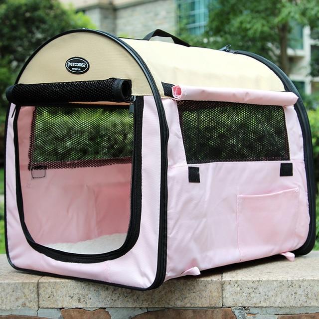 Portable Folding Pet Dog Tent Outdoor Dog Cage Washable Bed House Cat Puppy  Playpen Katten Mandjes
