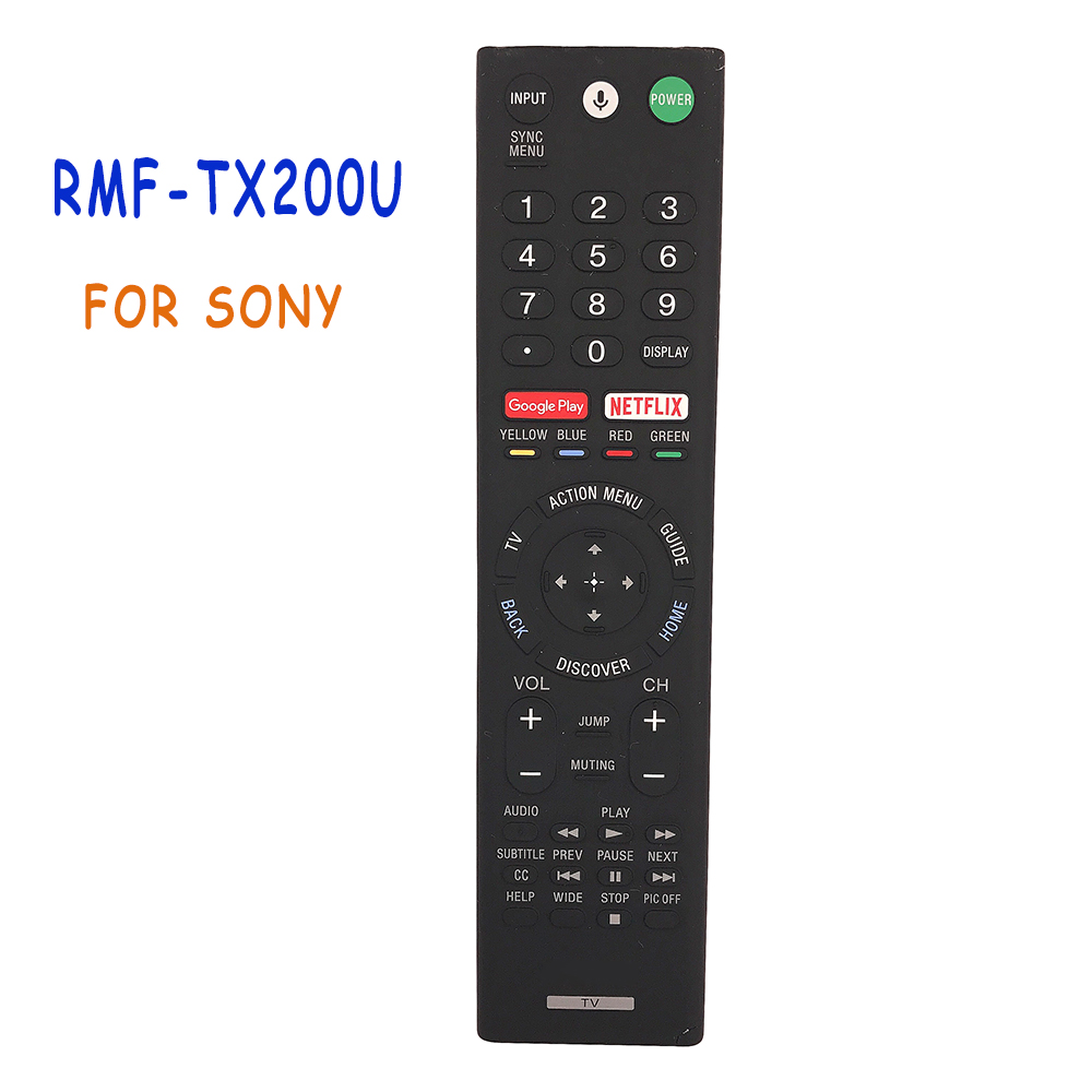 Original RMF-TX200U For SONY Voice Remote Control 4K HDR Ultra HD Android TV With Google Play RMF-TX200B XBR-55X55DS Remoto new original voice remote control rmf tx200p for sony 4k bravia lcd led tv
