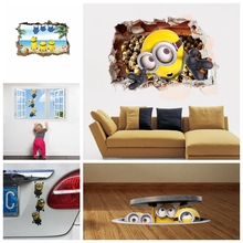 hot deal buy % minions movie wall stickers kids room home decorations diy pvc cartoon decals children gift 3d mural arts posters wallpaper