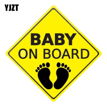YJZT 14 CM X 14 CM BABY ON BOARD Waarschuwingsborden Reflecterende Auto Stickers Motorfiets Decals C1-6068(China)