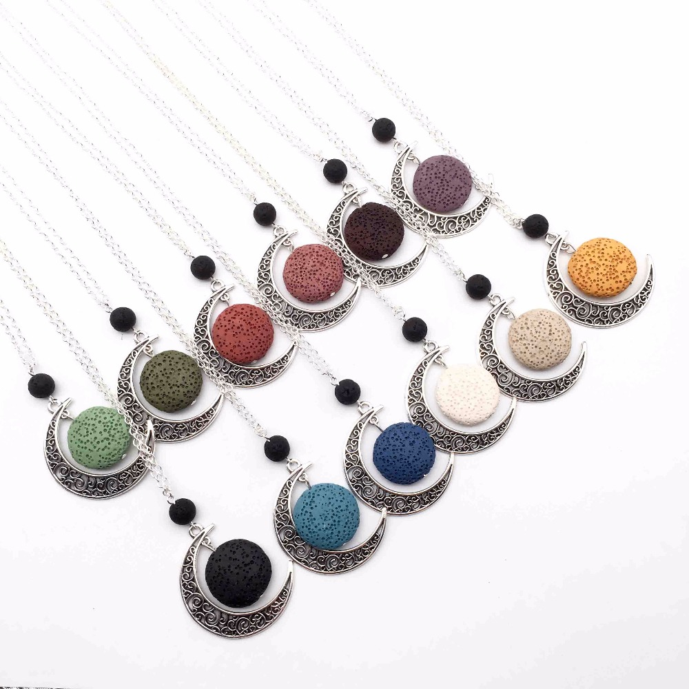 Jewelry & Watches Aromatherapy Jewellery With Gems. Essential Oil Lava Stone Diffusing Bracelet