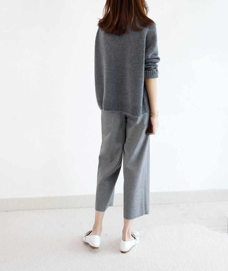 2018 Đôi dày lỏng cao cổ áo len cashmere nữ áo len cashmere áo thun áo len