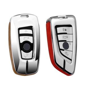 Image 4 - Alta Qualidade Suede Couro Chave Do Carro Titular Capa Para BMW X1 X3 X4 X5 X6 E90 E60 E36 E93 F15 F16 F48 G30 F11 F30 Caso Chave Para Carro