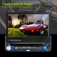 Универсальный 7 дюймов 1 Дин видео с автоматической выдвижной HD сокращение Сенсорный экран BT автомобиля MP5 плеер аудио