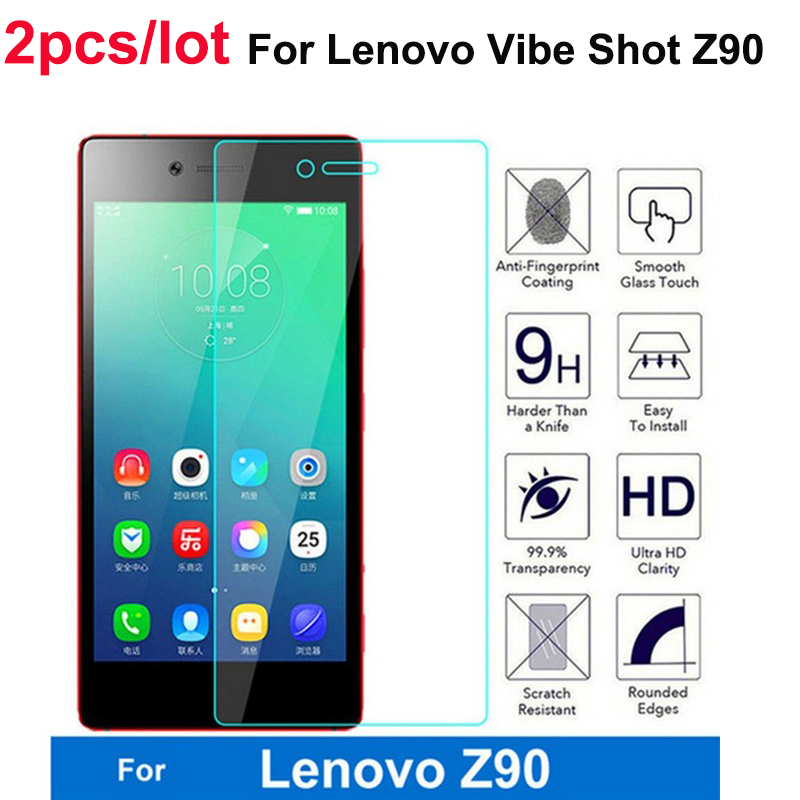 2pcs Lenovo Z90a40 Tempered Glass For Lenovo VIBE Shot Z90 Z90-7 Z90a40 Screen Protector Protective Flim For Lenovo Z90 Glass