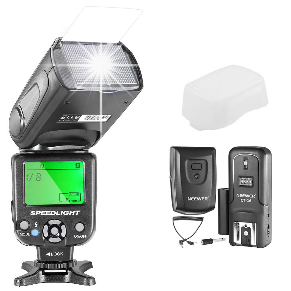 Neewer NW-561 GN38 Manual LCD Display Speedlite Flash Kit for Canon Nikon and Other DSLR Cameras Includes NW561 FlashNeewer NW-561 GN38 Manual LCD Display Speedlite Flash Kit for Canon Nikon and Other DSLR Cameras Includes NW561 Flash