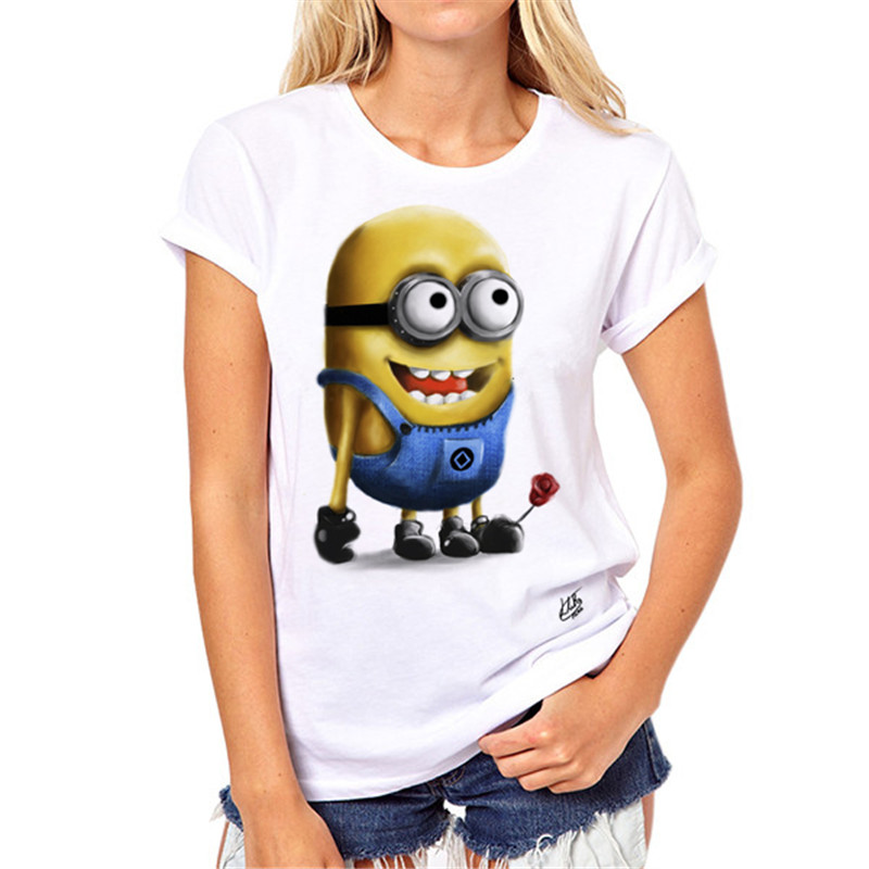 Sexy Despicable Me Minions T-shirts for Ladies