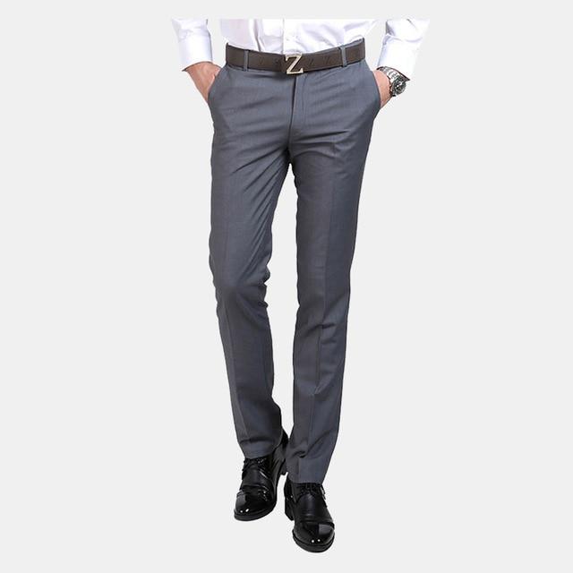 43e3a6beda De Lujo de los hombres Pantalones de Traje de Pantalones de Vestir Para Hombre  Slim Fit Social Formal Blazer Pantalones Nueva Llegada Traje Homme Pantalon  ...