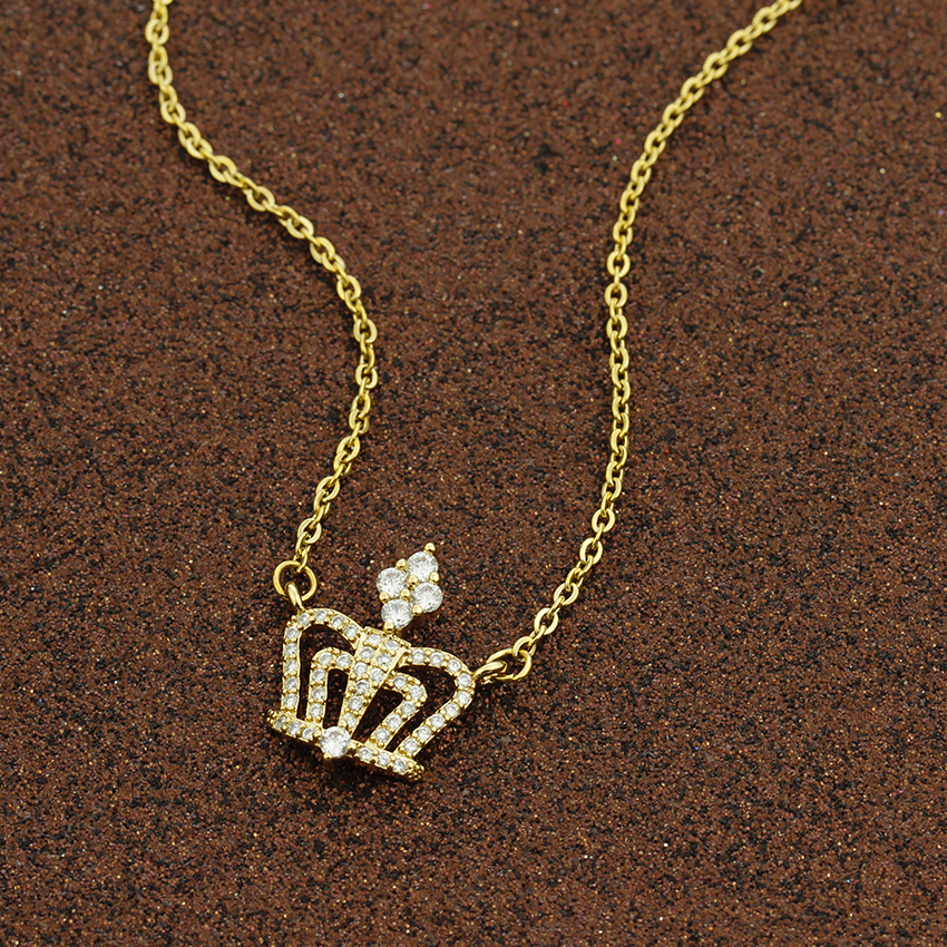 Kind and Queen Classic Crystal Princess Crown Necklaces For Women Wedding  Jewelry Ketting Bridesmaid Gifts Collier Bijoux Femme ... 7912530f57f5