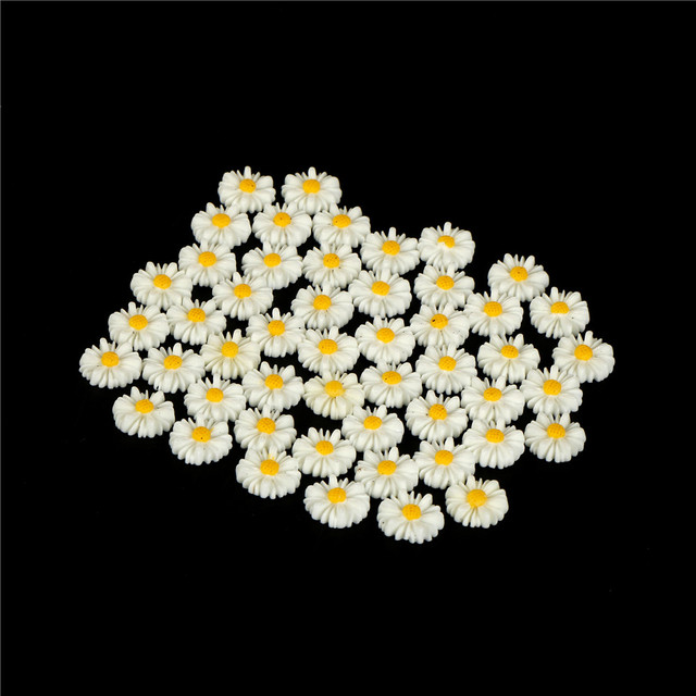 30 Pink Flower Daisy Cabochons Flat Back 13mm