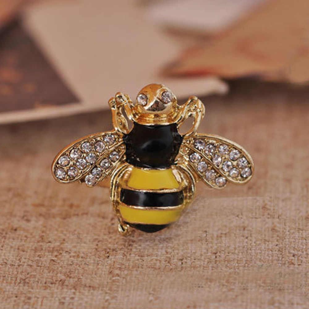 Новые европейские и ювелирные изделия из Америки ретро капельного мигания горный хрусталь 3D кольцо пчела женские модные аксессуары кольцо-0276
