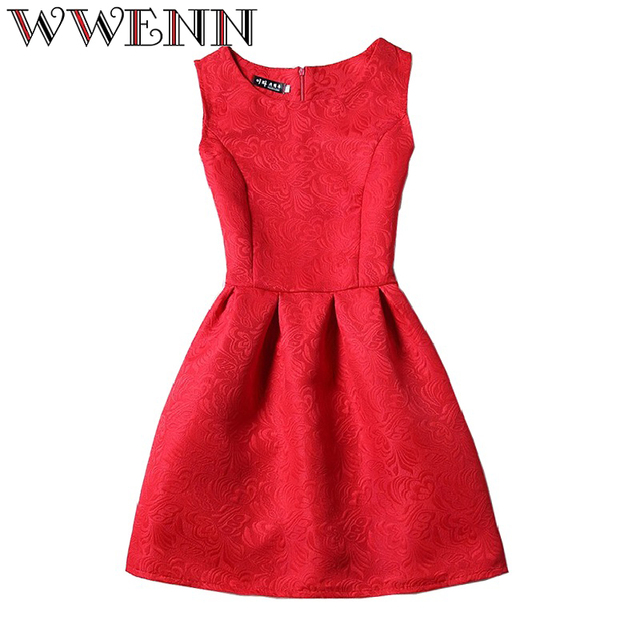Vestidos De Festa Summer Dress Women robe femme ete 2017 Fashion sexy O-neck Party Evening Vintage Tank ukraine Red Black Dress