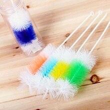 Кухонные Детские щетки для бутылочек 1 шт. нейлоновая щетина пластиковая прямая хвостовик щетка для чистки чашек щетка для мытья стекол инструменты для мытья
